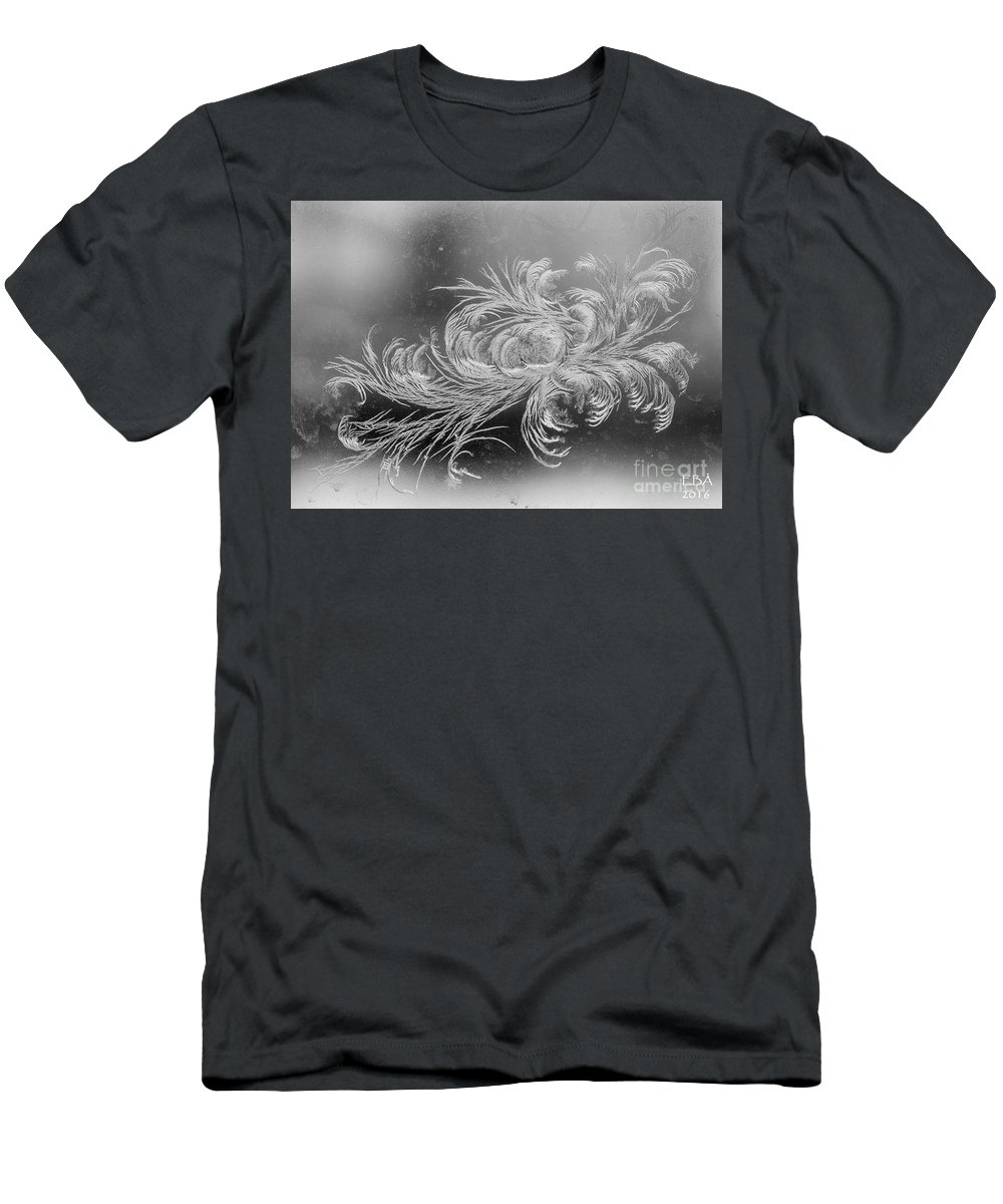 Frost Men's T-Shirt (Athletic Fit) featuring the photograph Frost 2 by Elaine Berger