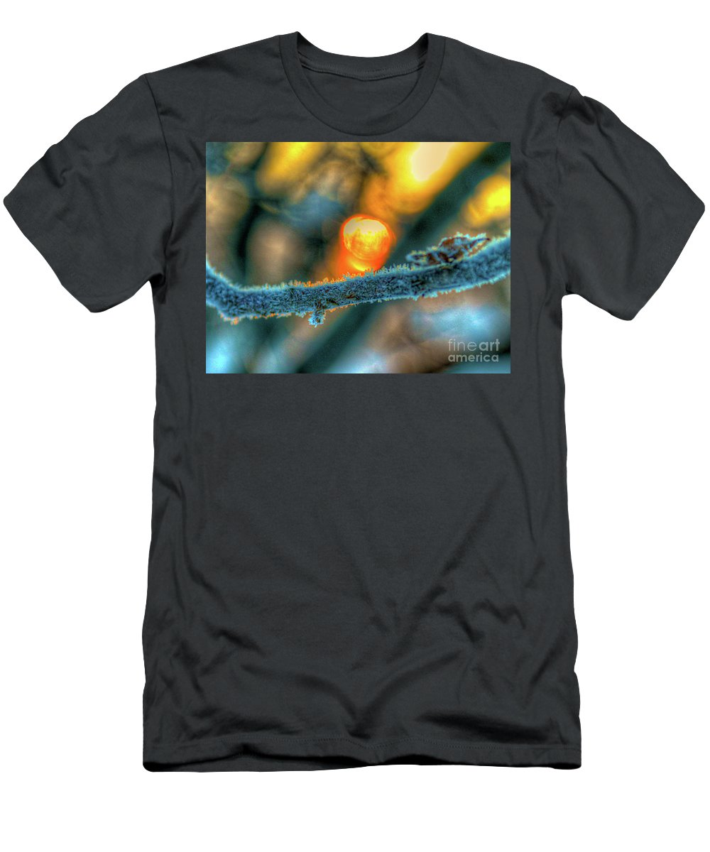 Cold Men's T-Shirt (Athletic Fit) featuring the photograph Frosty Morning by Robert Pearson