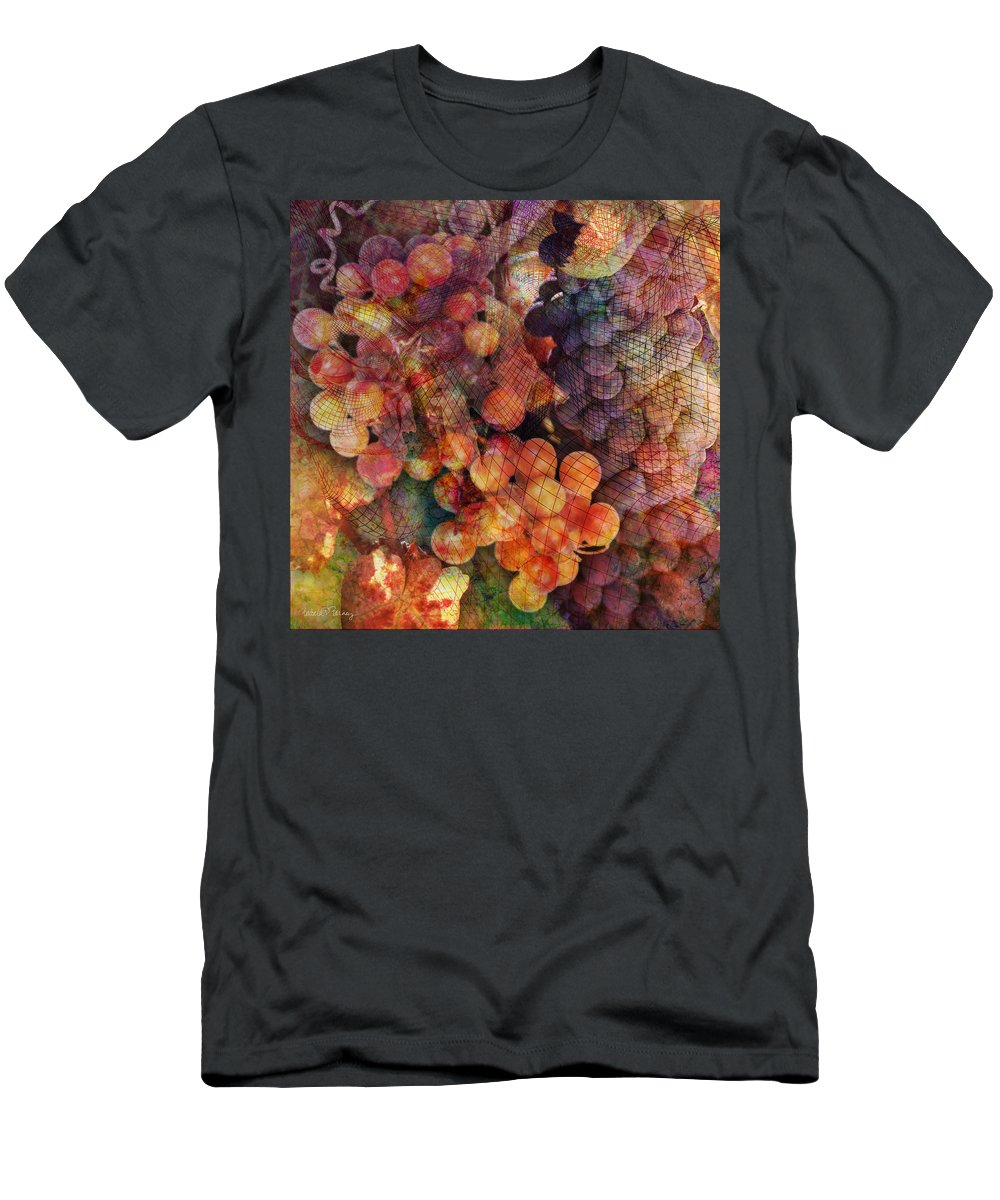 Grapes Men's T-Shirt (Athletic Fit) featuring the digital art Fruit Of The Vine by Barbara Berney