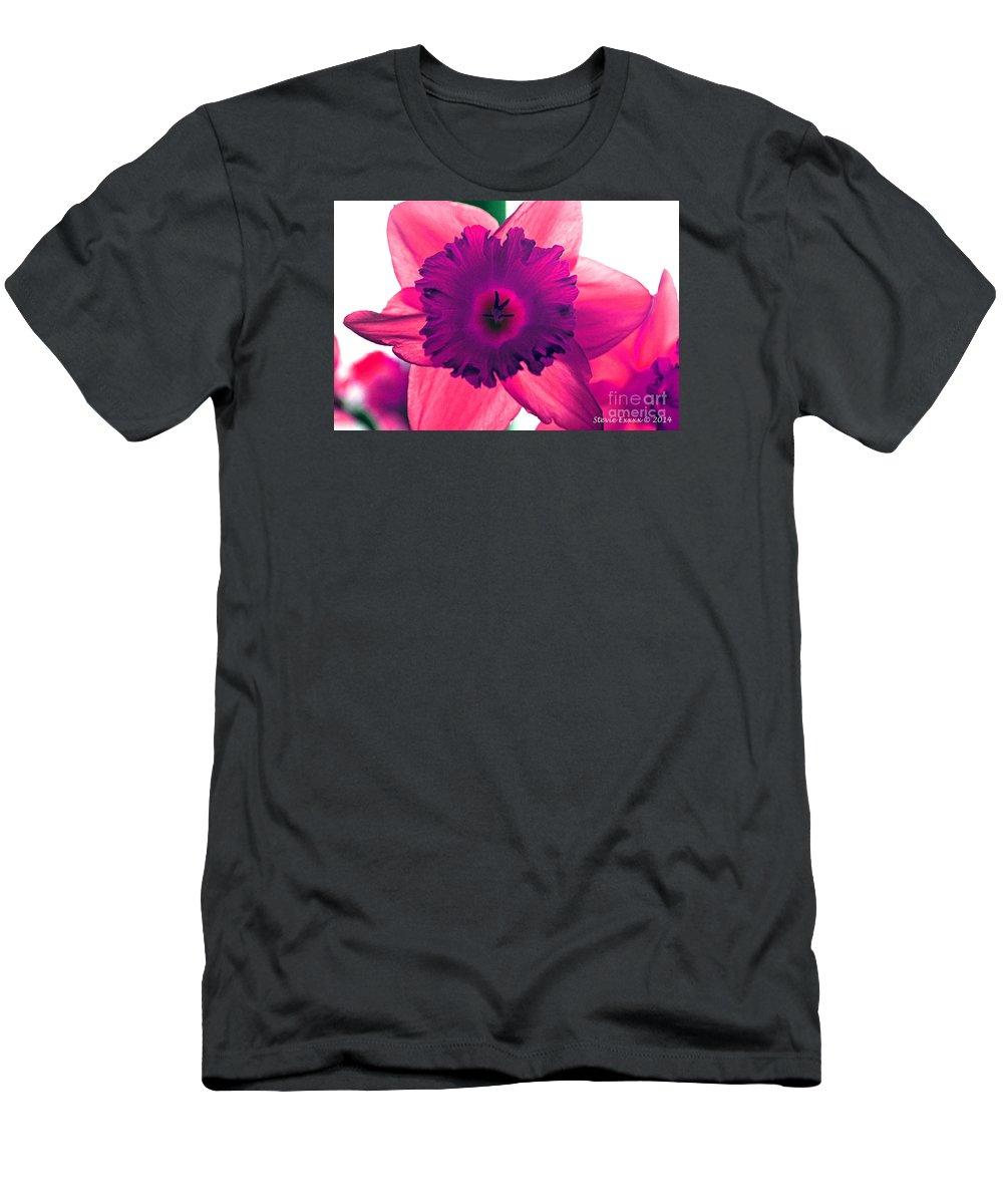Pink Fuchsia Bloom Flower Daffodil Edit Photograph Digital Modern Edge Nature T-Shirt featuring the photograph Fuchsia by Stevie Ellis
