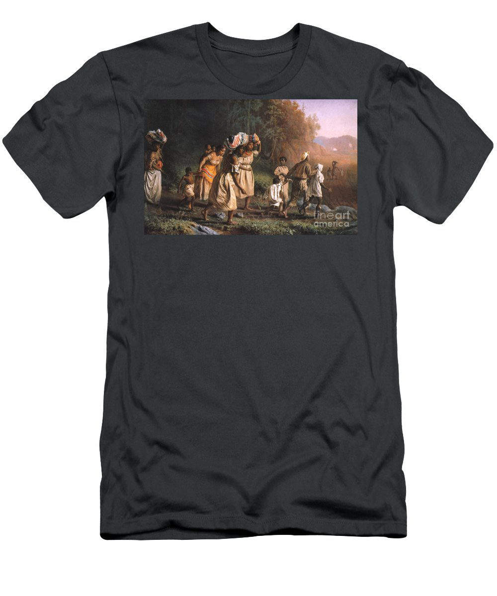 1867 Men's T-Shirt (Athletic Fit) featuring the photograph Fugitive Slaves, 1867 by Granger
