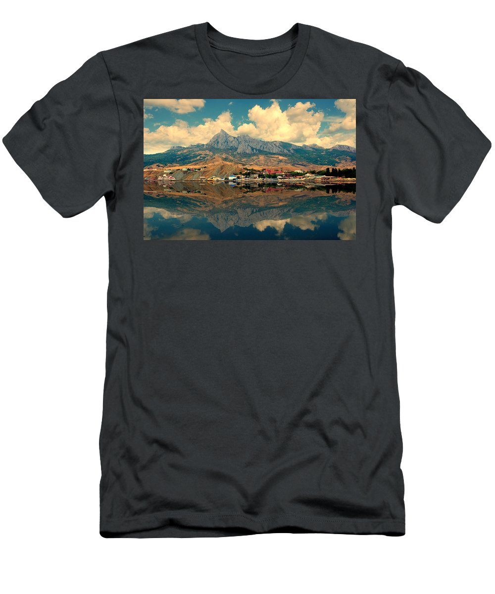 Reflection Men's T-Shirt (Athletic Fit) featuring the photograph Full Calm by Yuri Hope