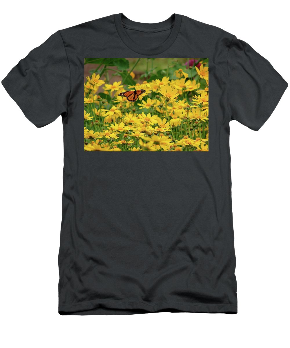 Funchal Men's T-Shirt (Athletic Fit) featuring the photograph Funchal Maderia Monarch by Brett Winn