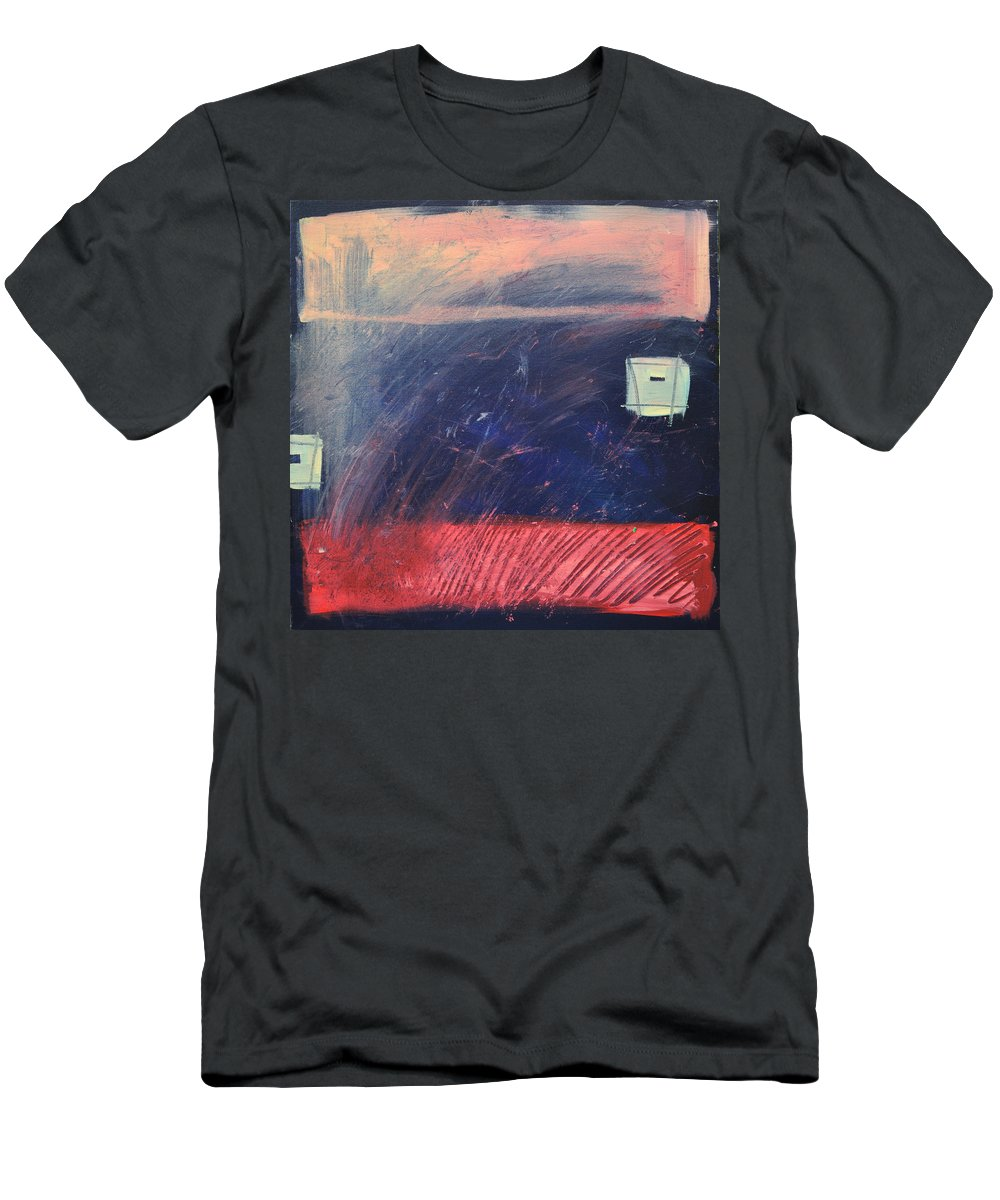 Red Men's T-Shirt (Athletic Fit) featuring the painting Fyr Bal by Tim Nyberg
