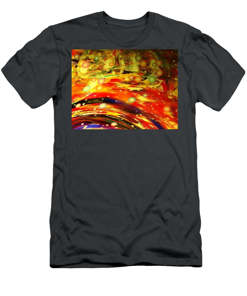 Galaxy Men's T-Shirt (Athletic Fit) featuring the digital art Galaxy by Natalie Holland