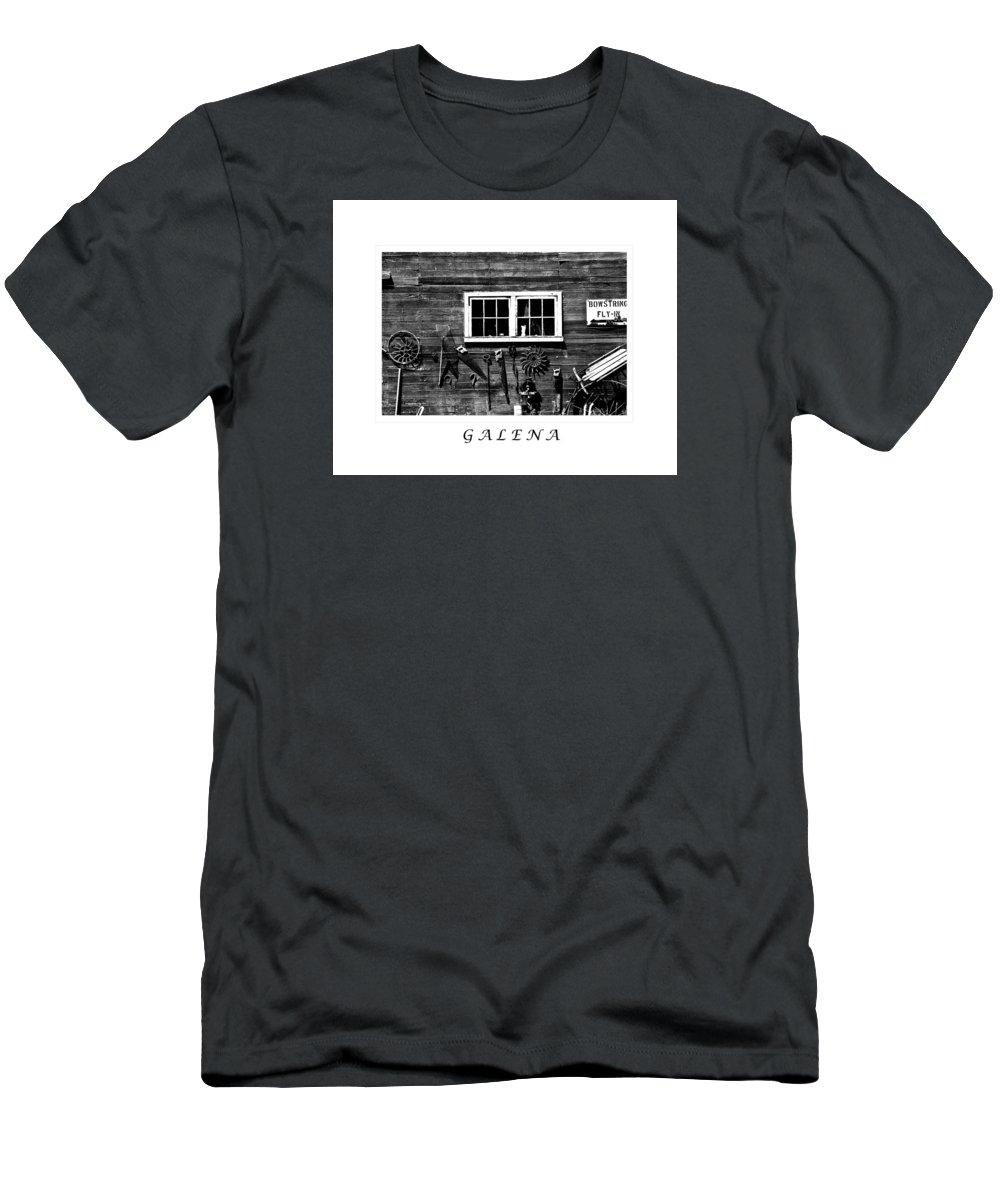 Galena Men's T-Shirt (Athletic Fit) featuring the photograph Galena Antiques by Joni Eskridge