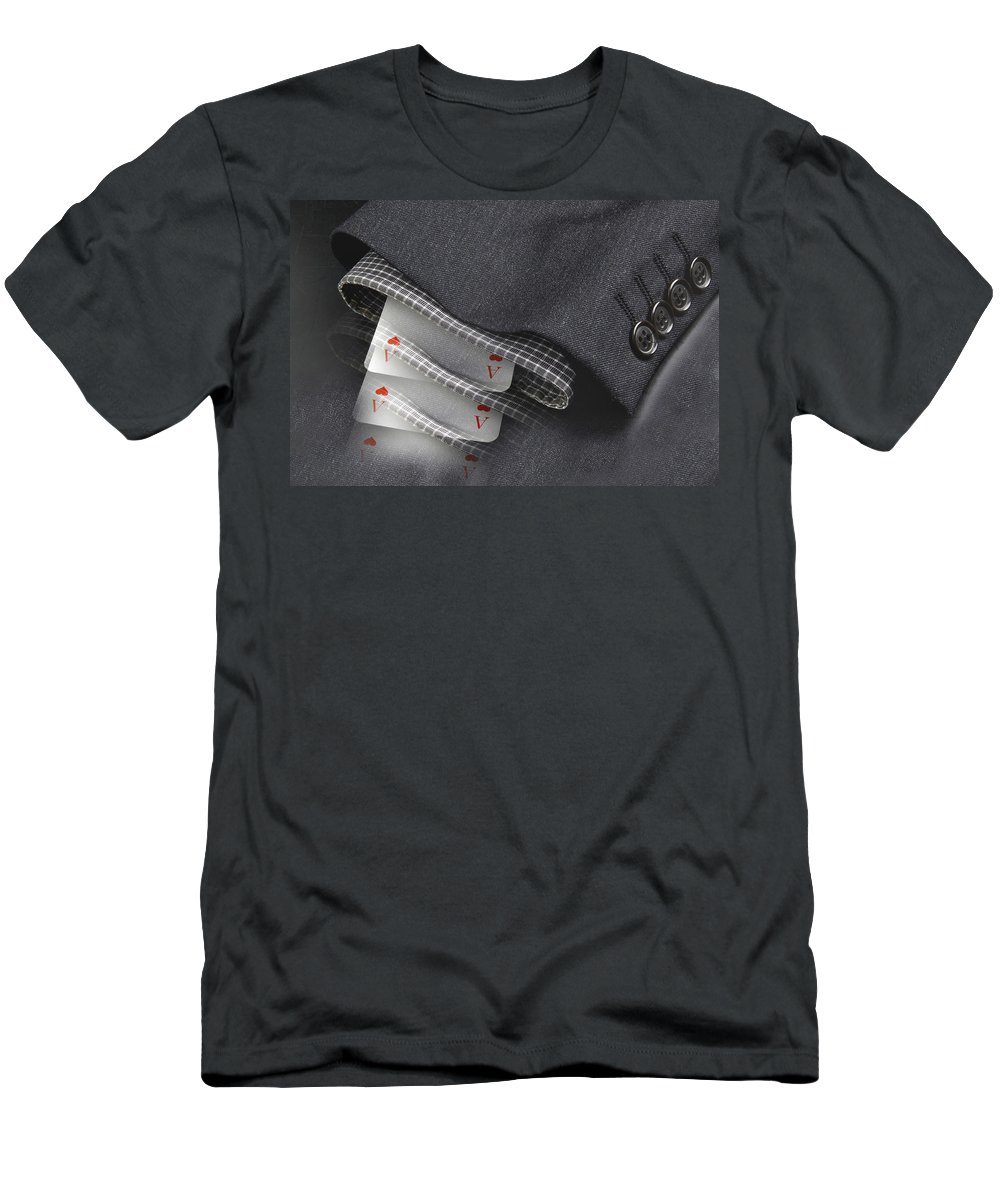 Gambler Men's T-Shirt (Athletic Fit) featuring the photograph Gambler by Manfred Lutzius