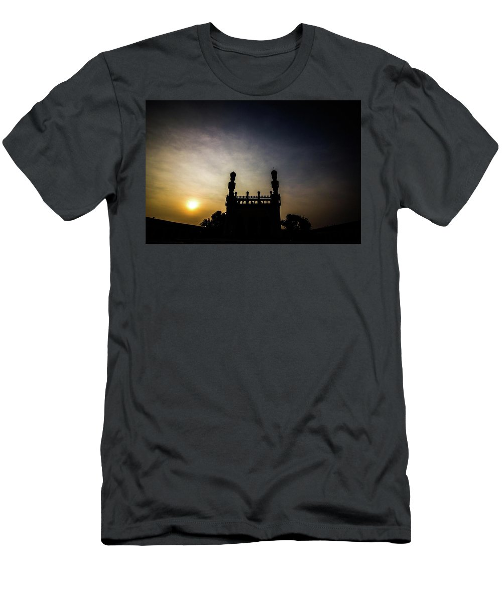 Mosques Men's T-Shirt (Athletic Fit) featuring the photograph Gandikota Mosque by Vishesh Unni Raghunathan