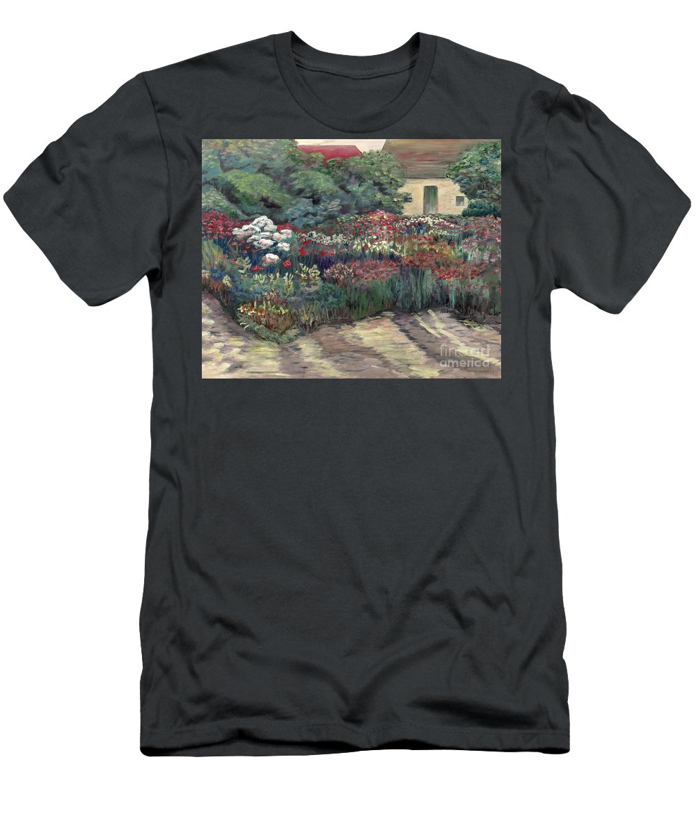 Breck Men's T-Shirt (Athletic Fit) featuring the painting Garden At Giverny by Nadine Rippelmeyer