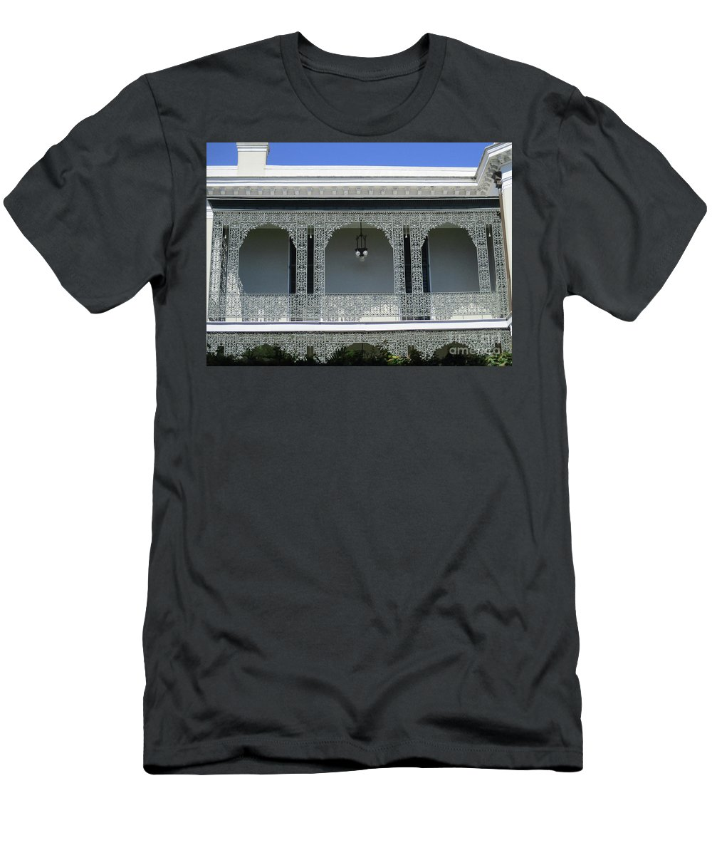 Garden District Men's T-Shirt (Athletic Fit) featuring the photograph Garden District 38 by Randall Weidner