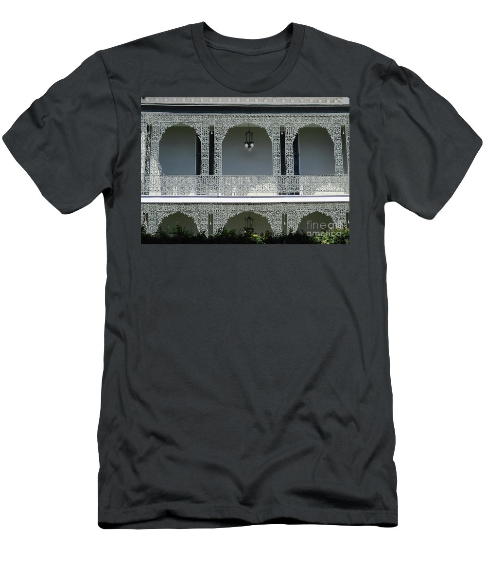 Garden District Men's T-Shirt (Athletic Fit) featuring the photograph Garden District 39 by Randall Weidner