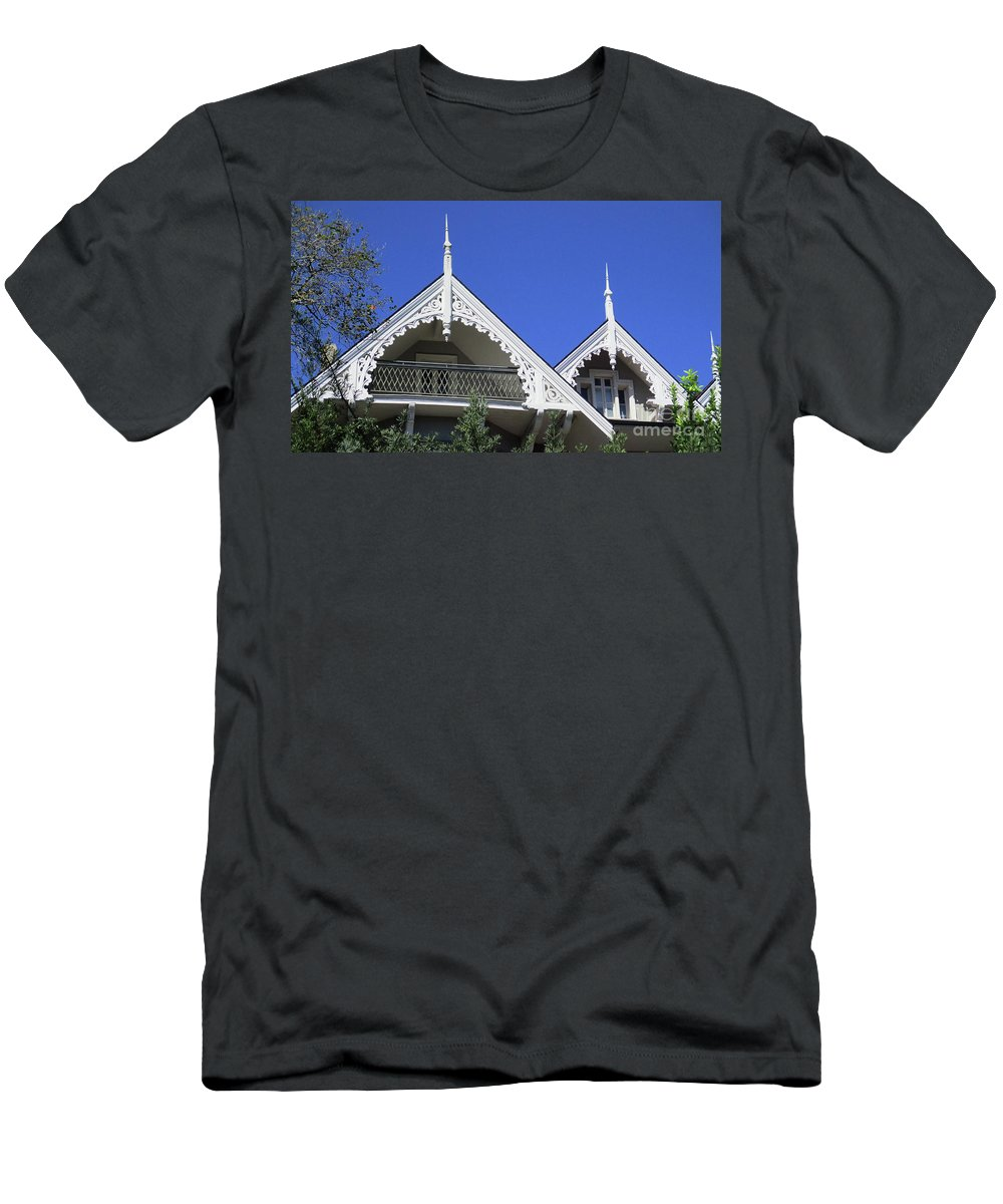 Garden District Men's T-Shirt (Athletic Fit) featuring the photograph Garden District 45 by Randall Weidner