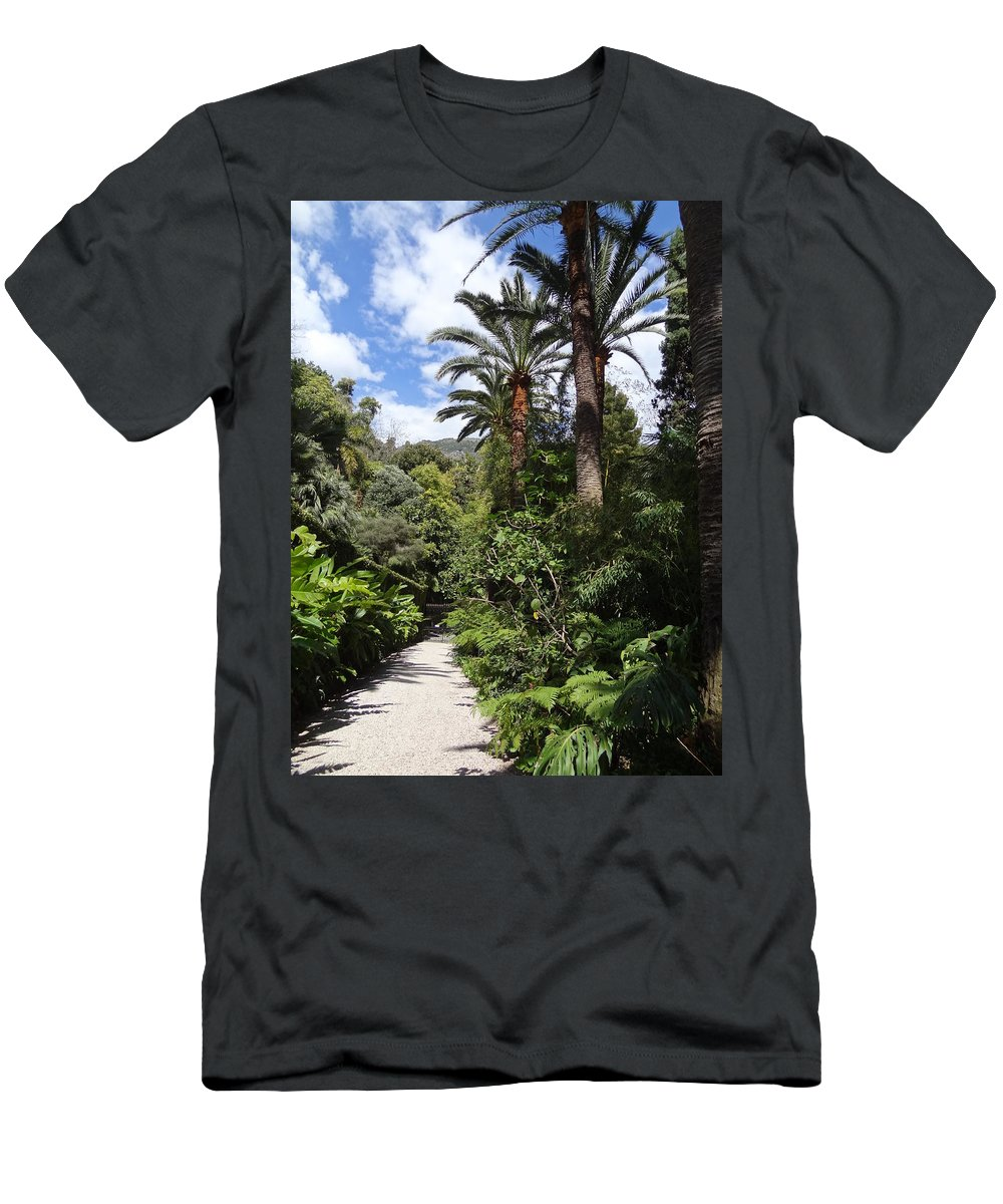 Men's T-Shirt (Athletic Fit) featuring the photograph Garden In Menton by Andres Chauffour