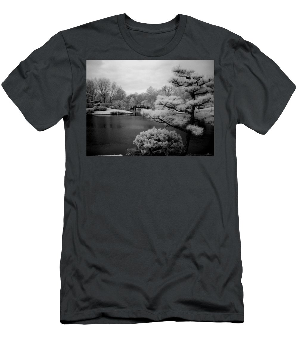 Landscape Men's T-Shirt (Athletic Fit) featuring the photograph Garden Of Pure Clear Harmony by Jane Linders
