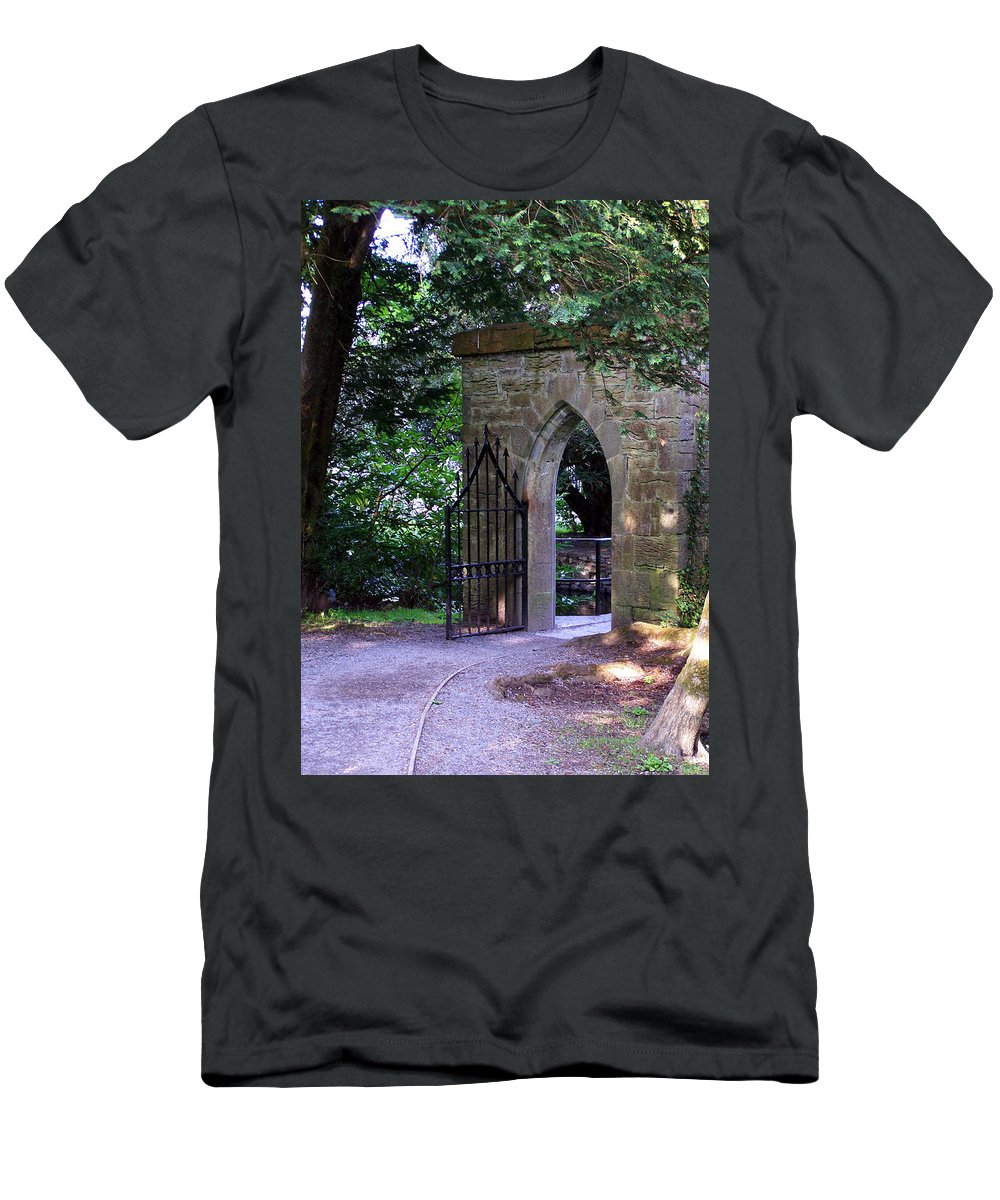 Irish Men's T-Shirt (Athletic Fit) featuring the photograph Gate At Cong Abbey Cong Ireland by Teresa Mucha