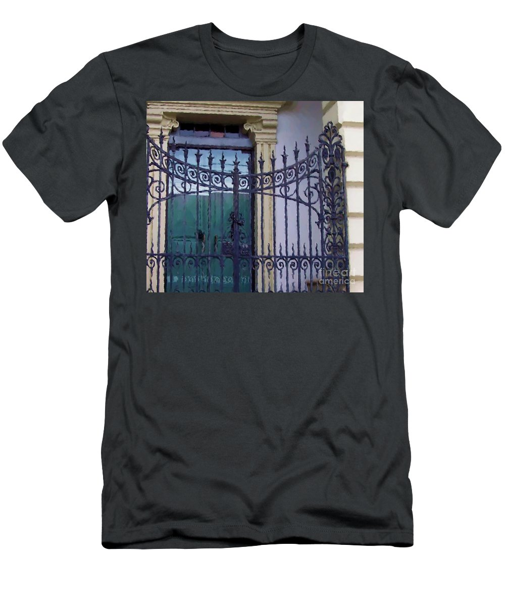 Gate Men's T-Shirt (Athletic Fit) featuring the photograph Gated by Debbi Granruth