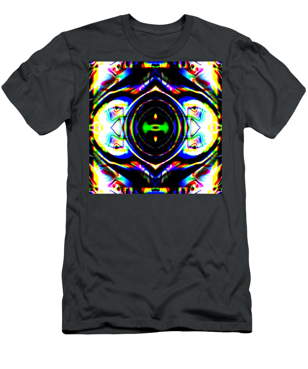Modern Men's T-Shirt (Athletic Fit) featuring the digital art Gateway by Blind Ape Art