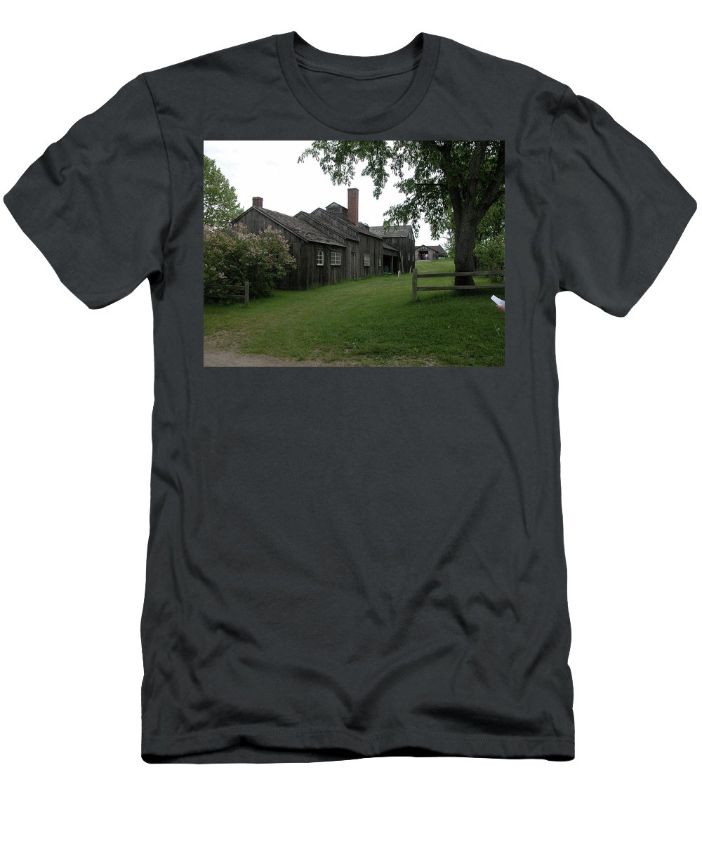 Barn Men's T-Shirt (Athletic Fit) featuring the photograph Genesee Country Village 1427 by Guy Whiteley