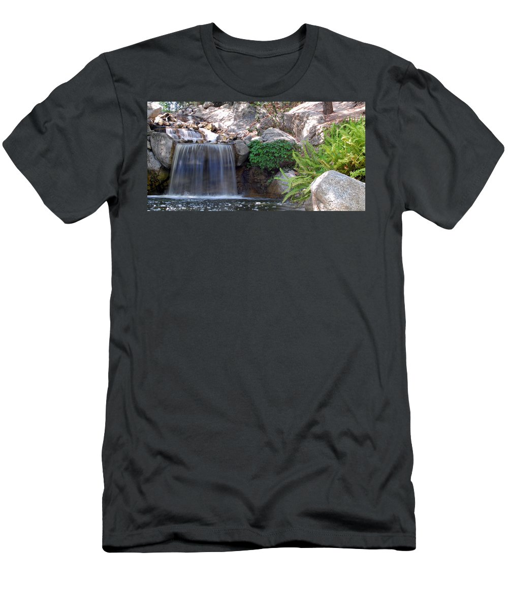 Water Men's T-Shirt (Athletic Fit) featuring the photograph Gentle Waterfall by Amy Fose