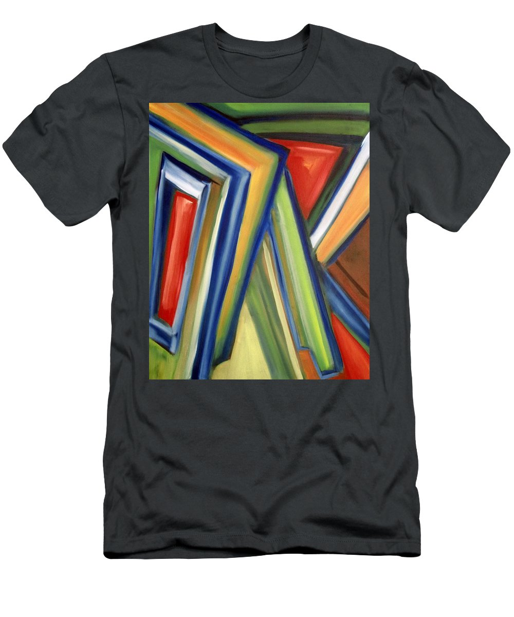 Rectangles T-Shirt featuring the painting Geometric Tension Series V by Patricia Cleasby