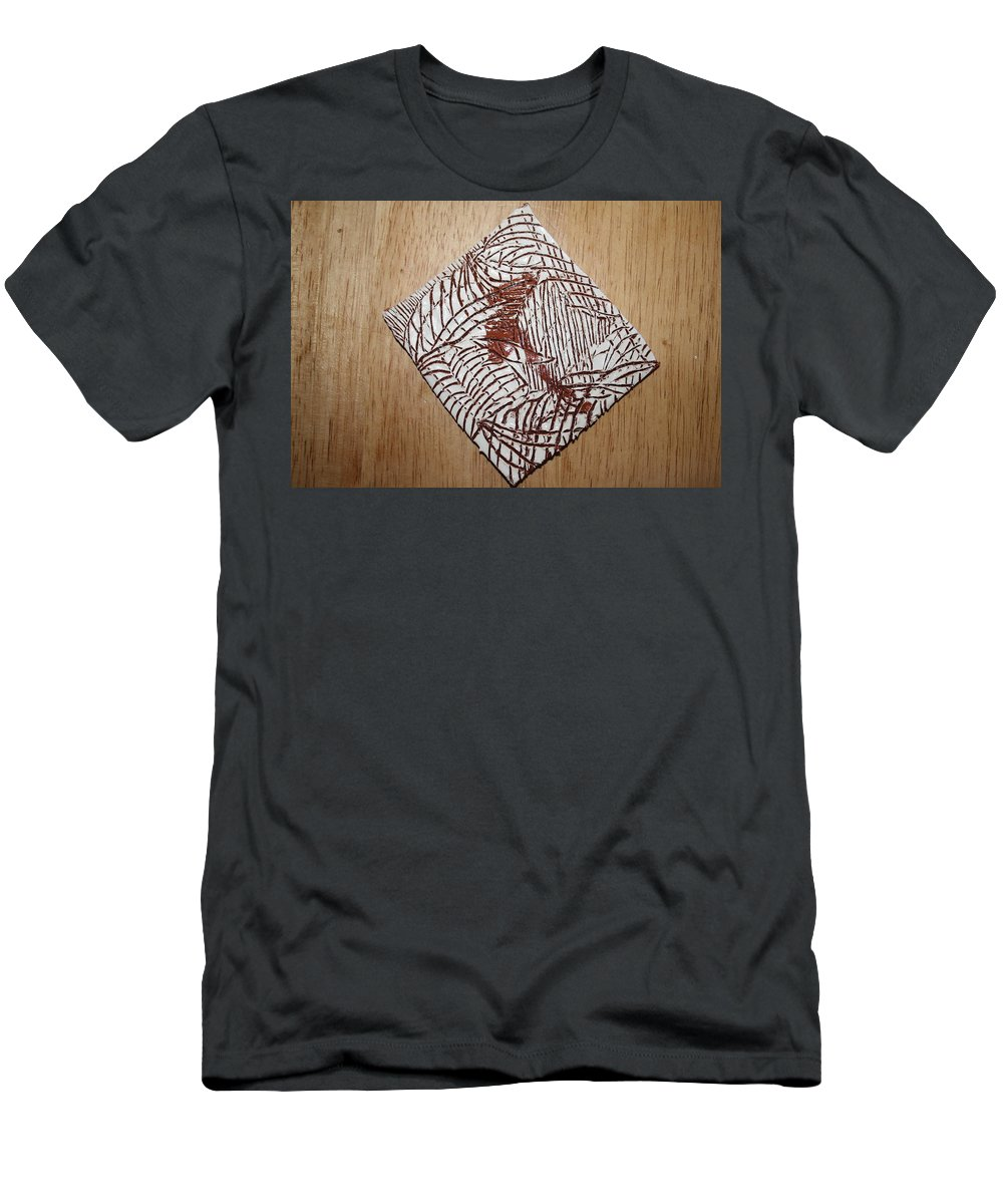 Jesus Men's T-Shirt (Athletic Fit) featuring the ceramic art Geras Eye - Tile by Gloria Ssali