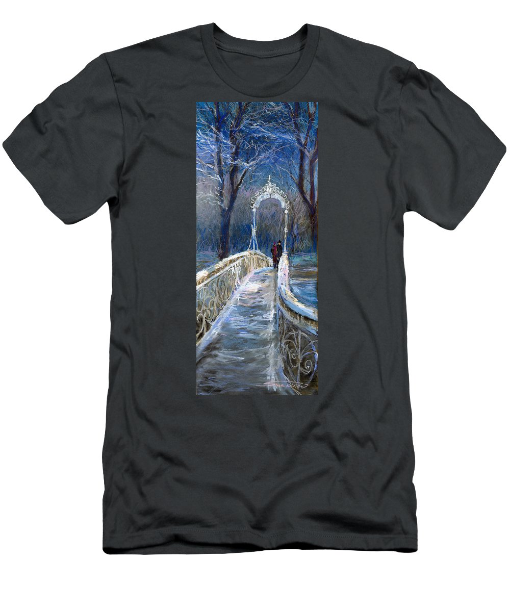 Pastel T-Shirt featuring the painting Germany Baden-Baden 02 by Yuriy Shevchuk