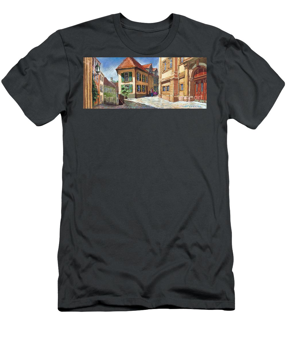 Pastel Men's T-Shirt (Athletic Fit) featuring the painting Germany Baden-baden 04 by Yuriy Shevchuk