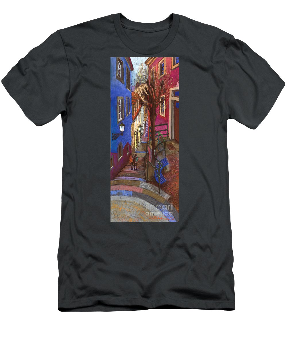 Pastel T-Shirt featuring the painting Germany Baden-Baden 08 by Yuriy Shevchuk