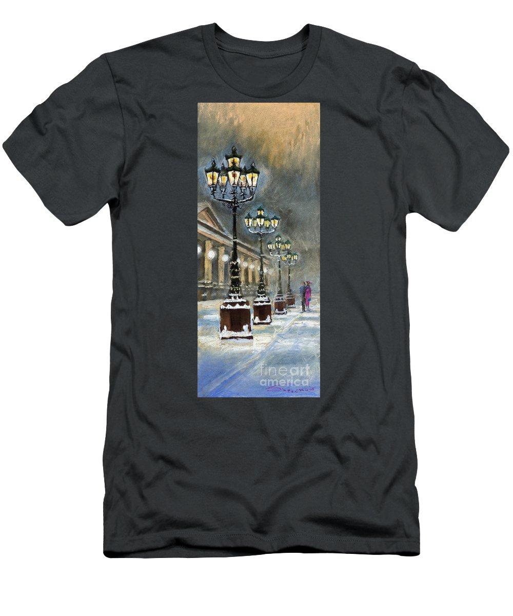 Pastel T-Shirt featuring the painting Germany Baden-Baden Kurhaus by Yuriy Shevchuk