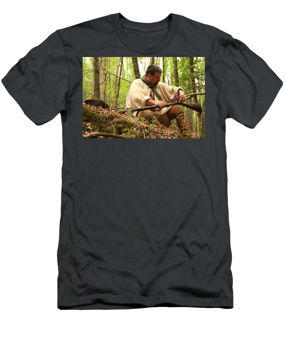 Men's T-Shirt (Athletic Fit) featuring the photograph Getting Ready by Kim Henderson