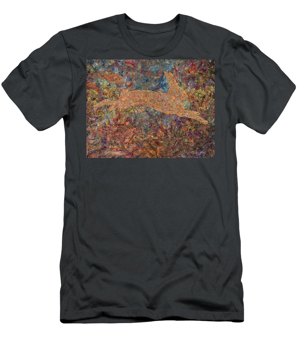Abstract Men's T-Shirt (Athletic Fit) featuring the painting Ghost Of A Rabbit by James W Johnson