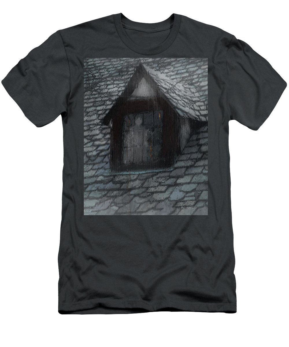 Ghost Men's T-Shirt (Athletic Fit) featuring the painting Ghost Rain by RC DeWinter