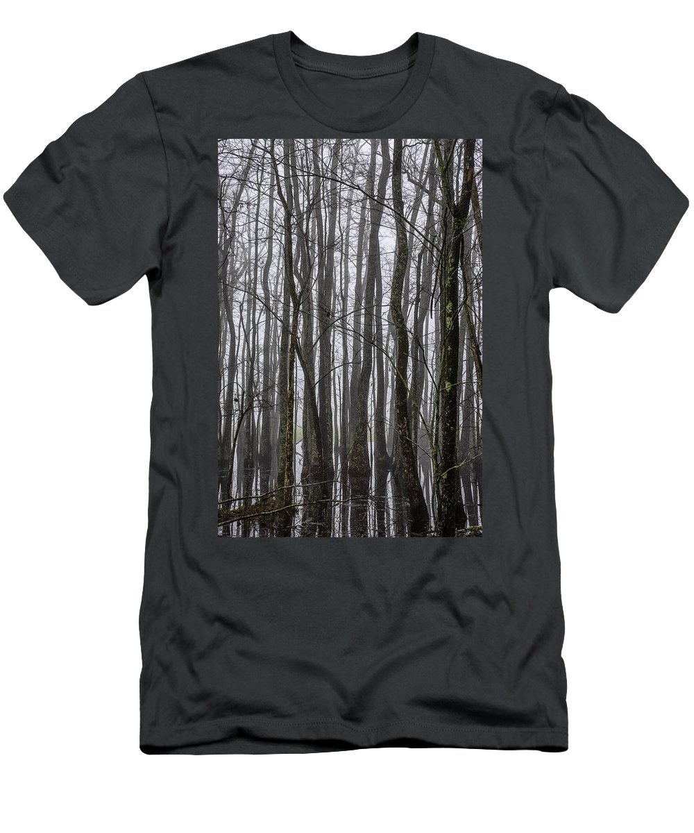 Louisiana Men's T-Shirt (Athletic Fit) featuring the photograph Ghost Swamp by Bonnie Marquette