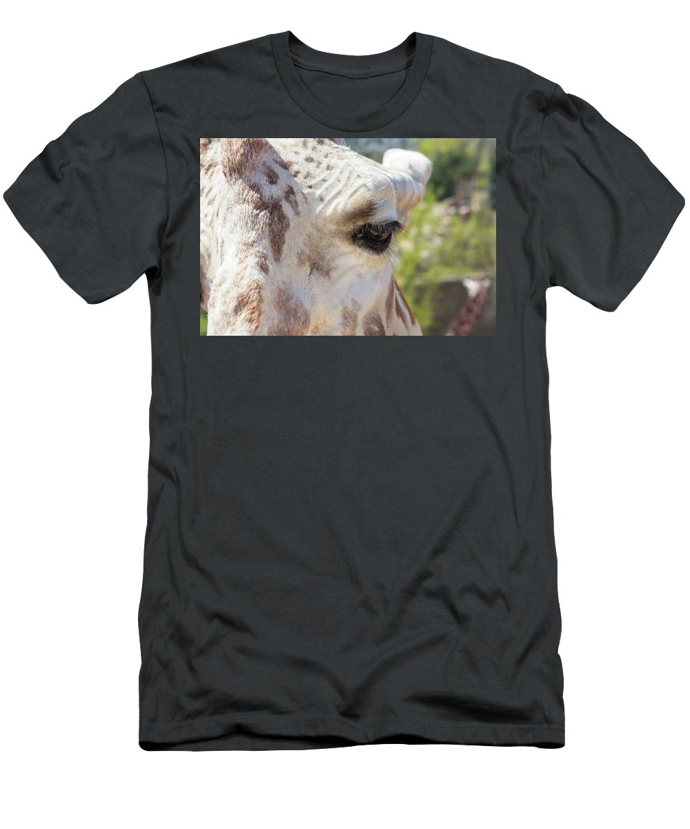 Giraffe Men's T-Shirt (Athletic Fit) featuring the photograph Giraffe by Katy Robinson
