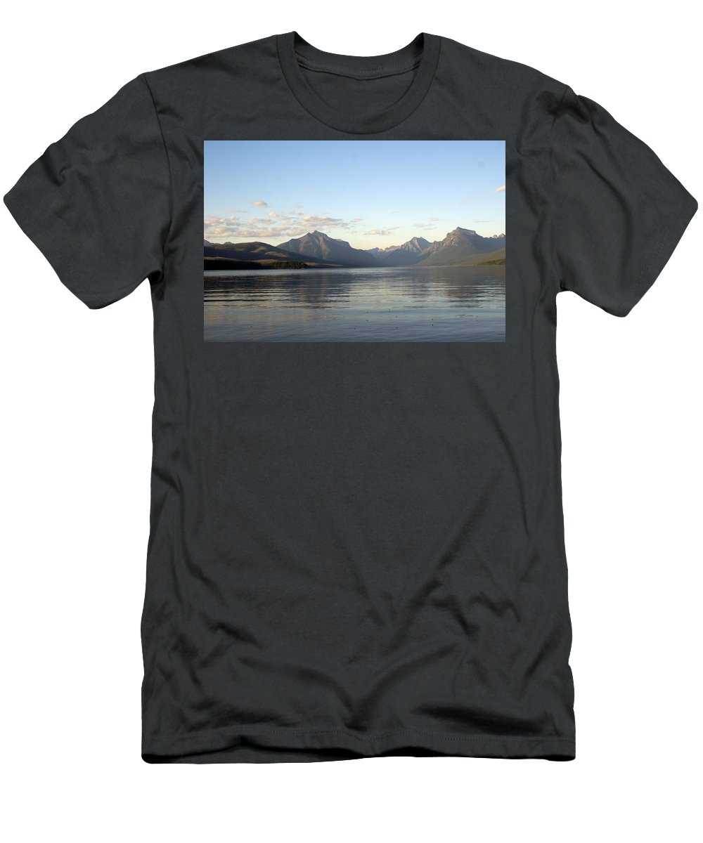 Men's T-Shirt (Athletic Fit) featuring the photograph Glacier Reflections 3 by Marty Koch