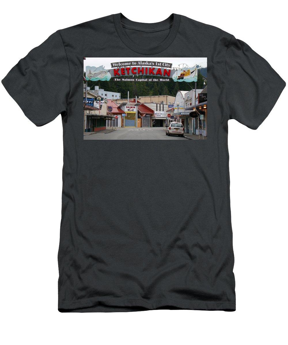 Ketchikan Men's T-Shirt (Athletic Fit) featuring the photograph Ketchikan Alaska's First City by Richard Rosenshein