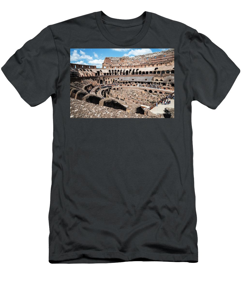 Gladiators And Christians Men's T-Shirt (Athletic Fit) featuring the photograph Gladiators And Christians by Brenda Kean