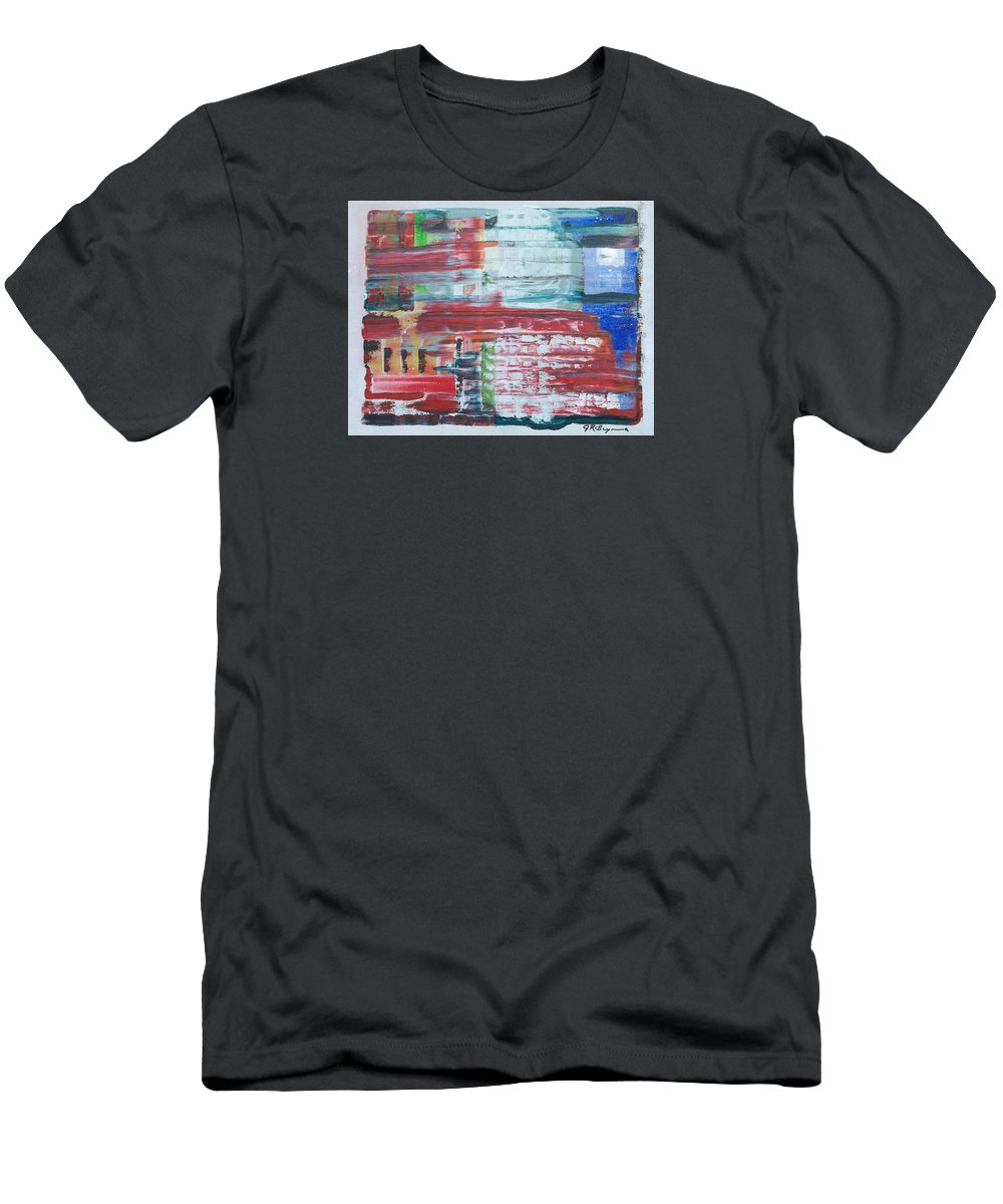 Impressionism Men's T-Shirt (Athletic Fit) featuring the painting In A New York Minute by J R Seymour