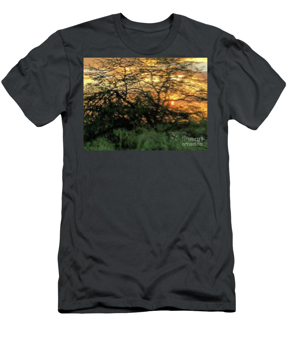 Sunset T-Shirt featuring the photograph Glass Sunset Hawaii by Heather Coen