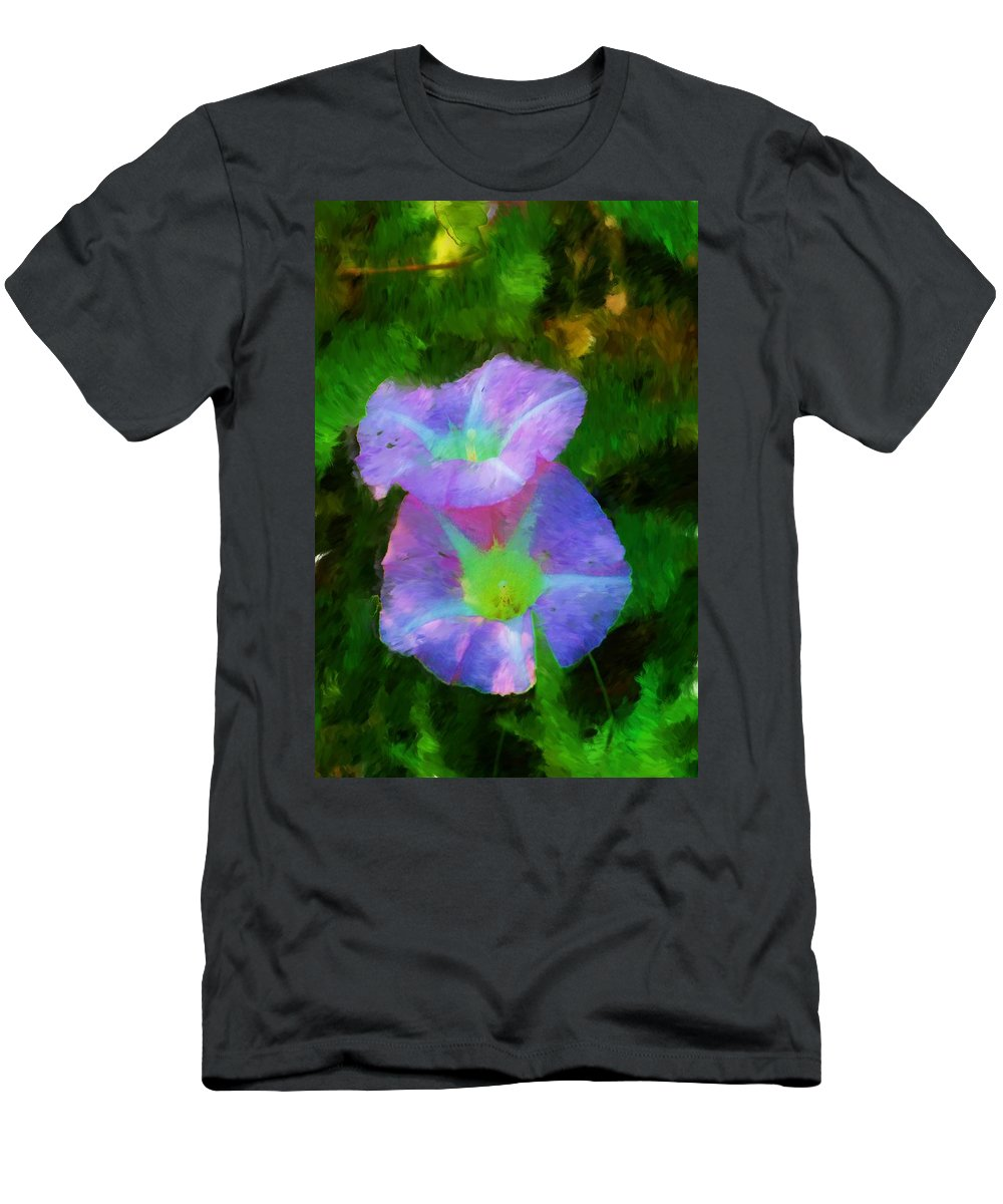 Floral Men's T-Shirt (Athletic Fit) featuring the painting Gloria In The Shade by David Lane