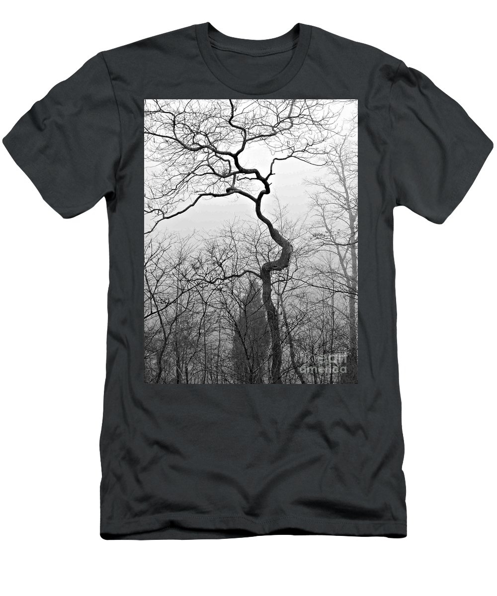 Tree Men's T-Shirt (Athletic Fit) featuring the photograph Gnarly by Mary Frances