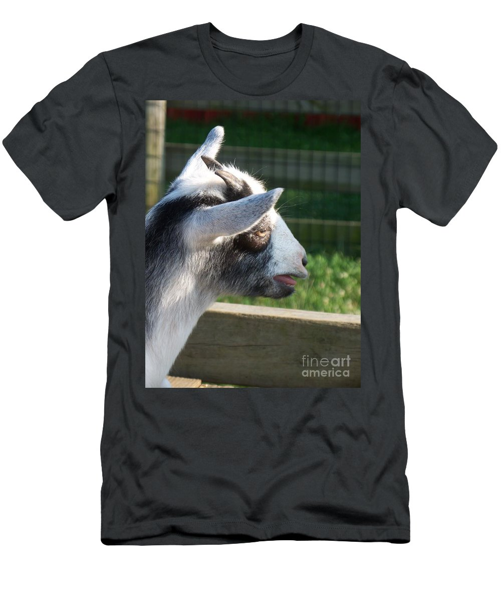 Minature Men's T-Shirt (Athletic Fit) featuring the photograph Goat Minature by Eric Schiabor