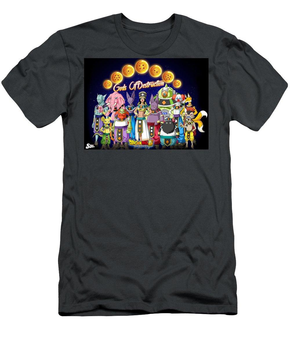 Goku New Form Men's T-Shirt (Athletic Fit) featuring the digital art God Of Destruction by Babbal Kumar