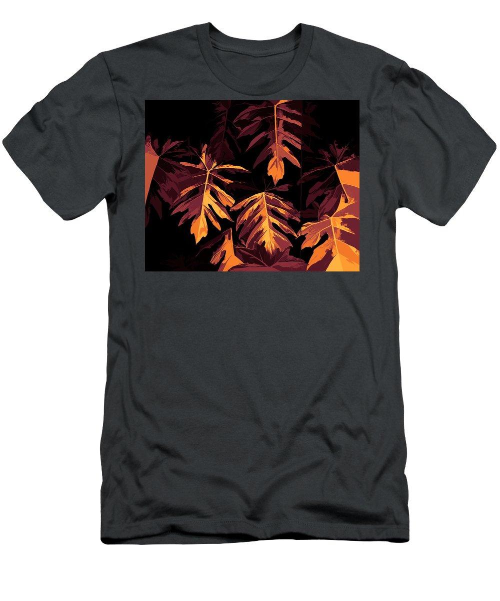 Digital Design Men's T-Shirt (Athletic Fit) featuring the digital art Golden Growth by Heidi Fickinger