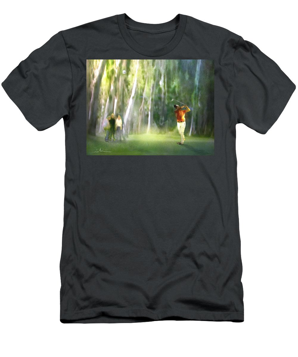 Golf Men's T-Shirt (Athletic Fit) featuring the painting Golf Trophee Hassan II In Royal Golf Dar Es Salam Morocco 01 by Miki De Goodaboom