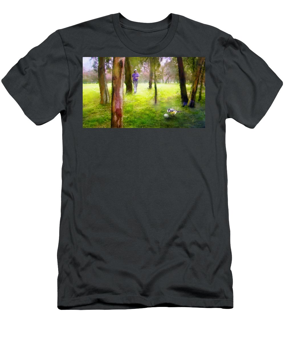 Golf Men's T-Shirt (Athletic Fit) featuring the painting Golf Trophee Hassan II In Royal Golf Dar Es Salam Morocco 02 by Miki De Goodaboom
