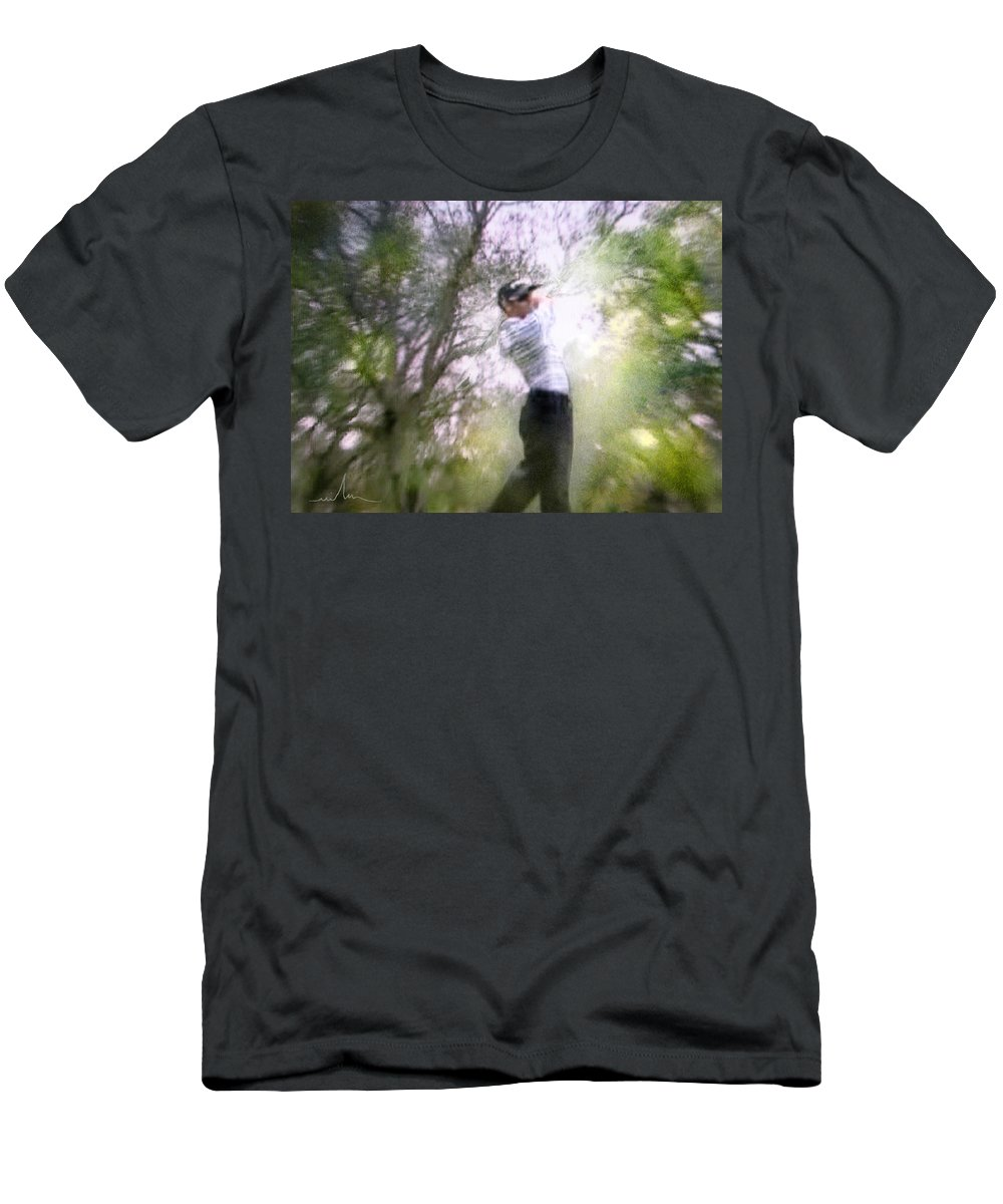 Golf Men's T-Shirt (Athletic Fit) featuring the painting Golf Trophee Hassan II In Royal Golf Dar Es Salam Morocco 05 by Miki De Goodaboom