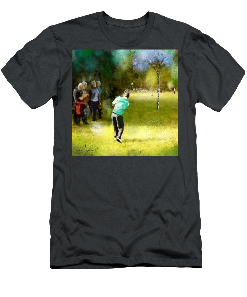 Golf Men's T-Shirt (Athletic Fit) featuring the painting Golf Vivendi Trophy In France 02 by Miki De Goodaboom