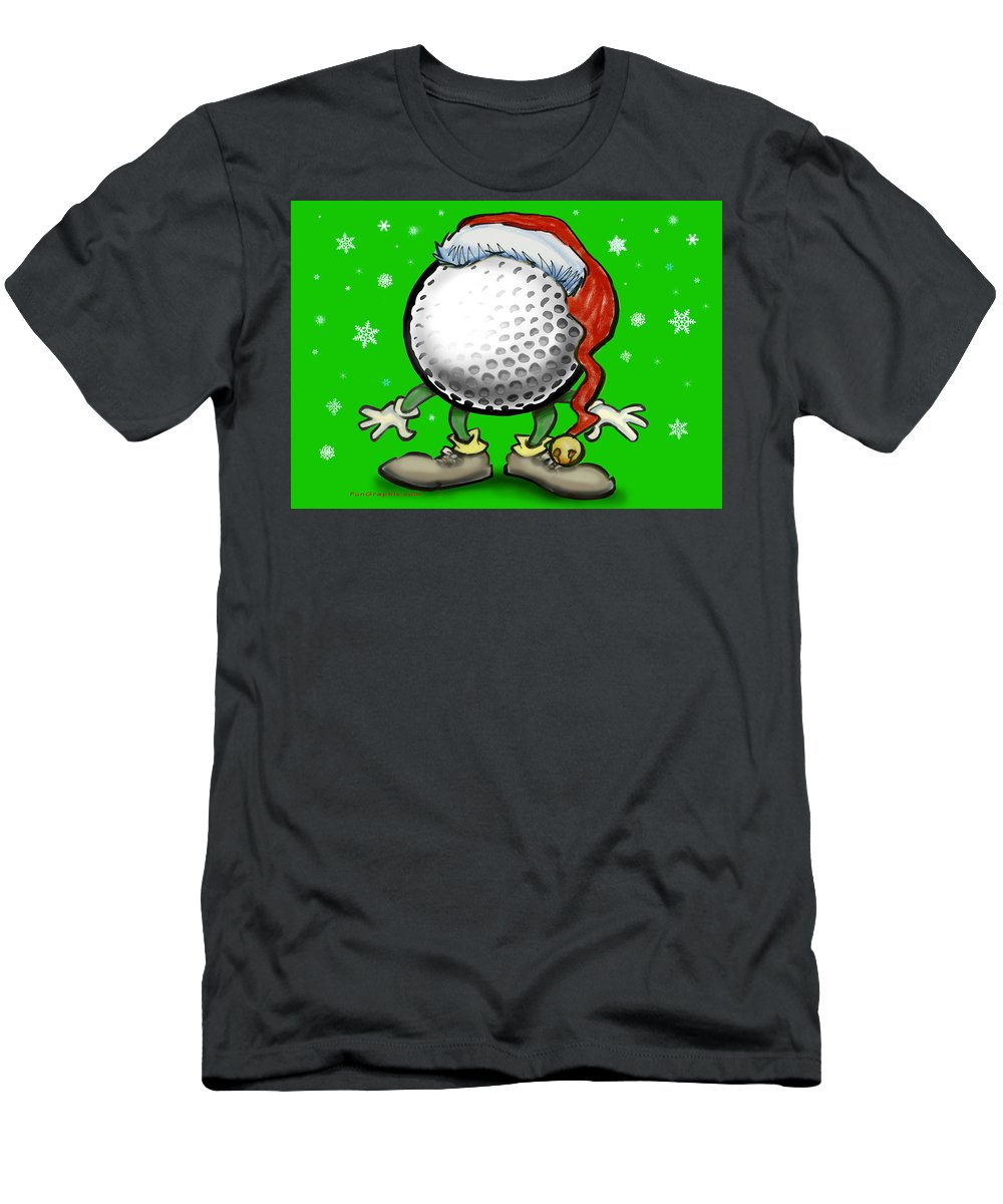 Golf Men's T-Shirt (Athletic Fit) featuring the greeting card Golfmas by Kevin Middleton