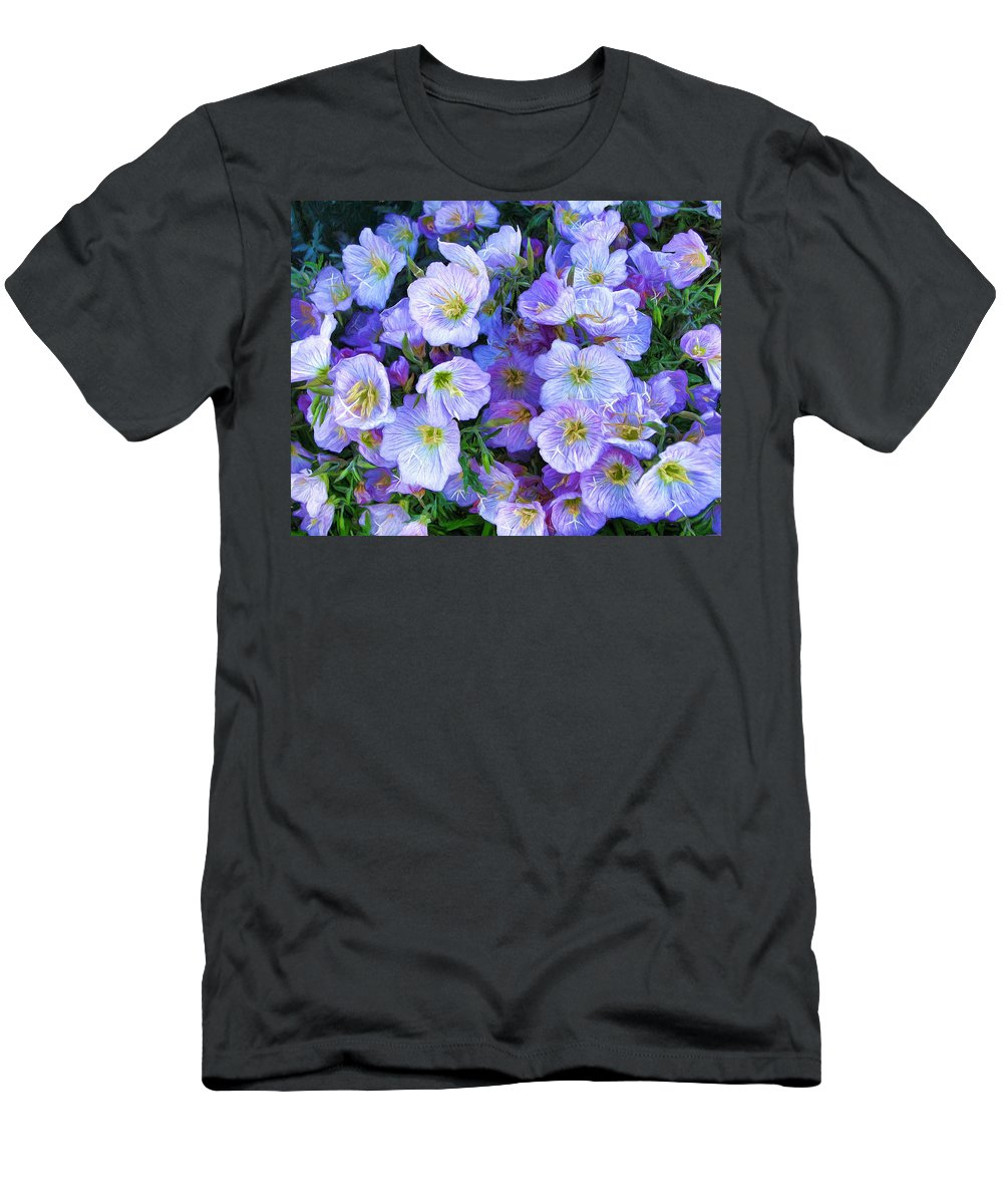 Flowers Men's T-Shirt (Athletic Fit) featuring the photograph Good Morning Blossoms by John Freidenberg